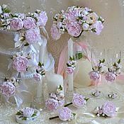 Свадебный салон ручной работы. Ярмарка Мастеров - ручная работа Свадебный комплект Пионовый Шик. Handmade.