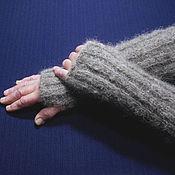 Аксессуары handmade. Livemaster - original item Long knitted fingerless gloves. Handmade.