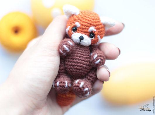 Миниатюра ручной работы. Ярмарка Мастеров - ручная работа. Купить Красная панда амигуруми Шпунька вязаная игрушка. Handmade. Рыжий
