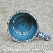 Посуда ручной работы. Ярмарка Мастеров - ручная работа Кружка керамика Бирюзовая лагуна. Handmade.