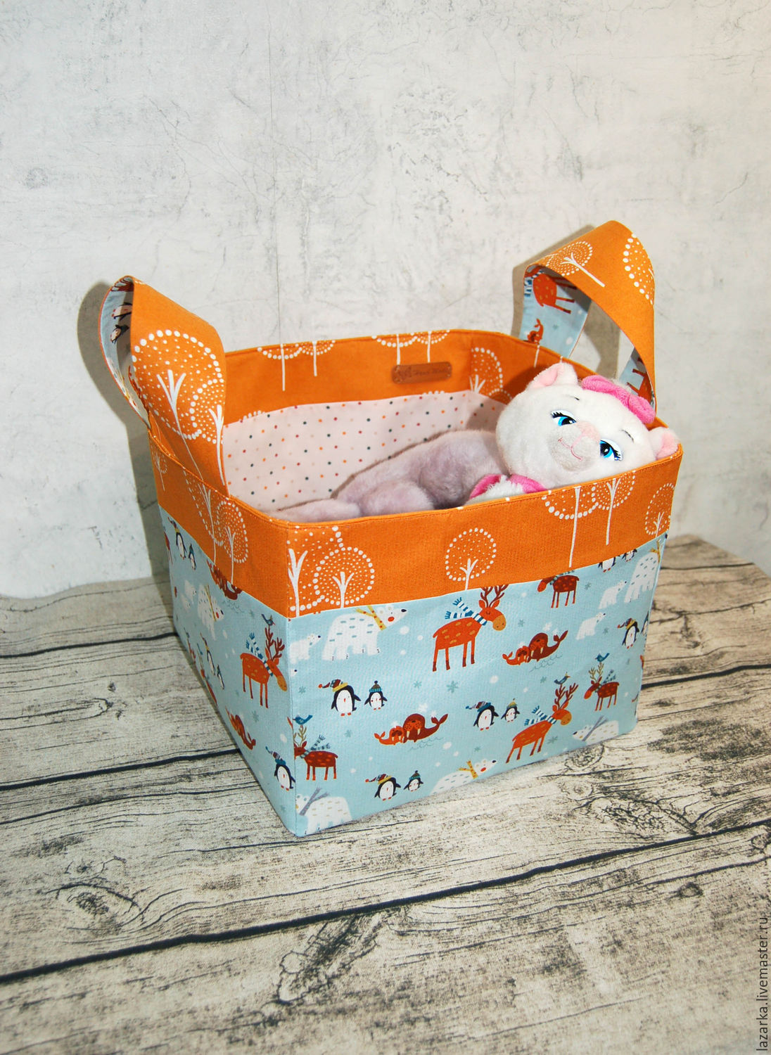 Basket Textile Toys Christmas Shop Online On Livemaster With