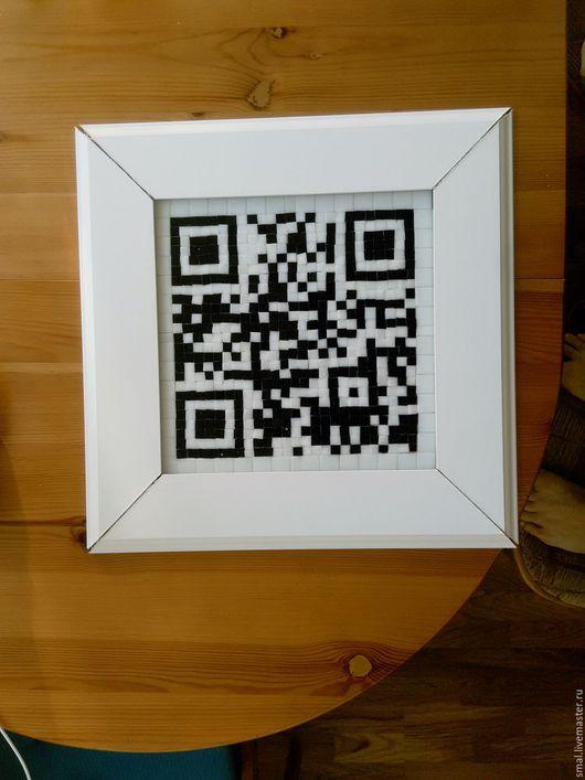 Рекламные вывески ручной работы. Ярмарка Мастеров - ручная работа. Купить Мозаика с QR-кодом вашего сайта. Handmade.
