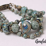 Украшения handmade. Livemaster - original item Bracelet from stones of Brittany. Handmade.
