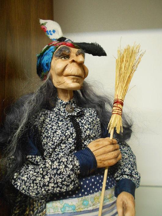 Сказочные персонажи ручной работы. Ярмарка Мастеров - ручная работа. Купить Баба-Яга, Авторская коллекционная кукла. Handmade. Комбинированный