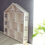Для дома и интерьера ручной работы. Ярмарка Мастеров - ручная работа Деревянный домик с окнами в три этажа + чердак и камин. Handmade.