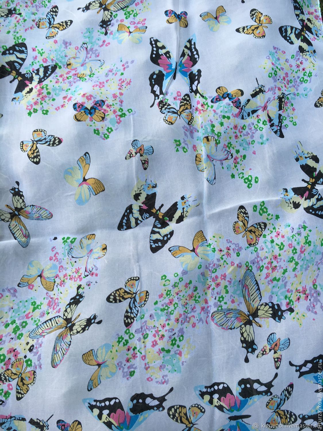 Silk stole Butterfly, Fabric, Berdsk,  Фото №1