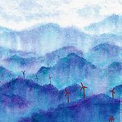 """Картины и панно ручной работы. Ярмарка Мастеров - ручная работа Акварель """"Ветренные будни"""" 30х40 Оригинал. Handmade."""