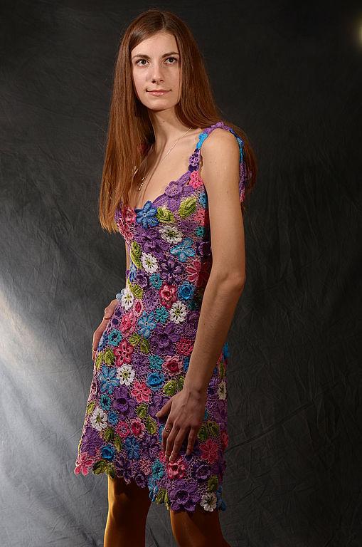 """Платья ручной работы. Ярмарка Мастеров - ручная работа. Купить Сарафан """" Лето"""". Handmade. Платье летнее, сиреневый"""