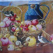Картины и панно ручной работы. Ярмарка Мастеров - ручная работа корзина с яблоками. Handmade.