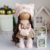 Тыквоголовка ручной работы. Ярмарка Мастеров - ручная работа Кукла тильда интерьерная кукла ручной работы большеножка кошка. Handmade.