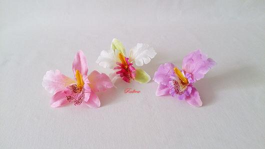 Материалы для флористики ручной работы. Ярмарка Мастеров - ручная работа. Купить Головки орхидеи Г15. Handmade. Орхидея, цветок орхидеи