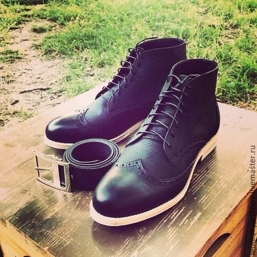Обувь ручной работы. Ярмарка Мастеров - ручная работа. Купить Модель - Deserts. Handmade. Черный, обувь ручной работы