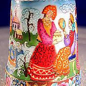 """Куклы и игрушки ручной работы. Ярмарка Мастеров - ручная работа Наперсток фарфоровый """"Аленький Цветочек"""". Handmade."""
