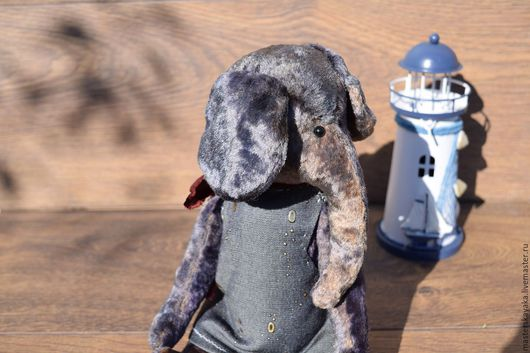 Мишки Тедди ручной работы. Ярмарка Мастеров - ручная работа. Купить Слониха Анжела. Handmade. Тёмно-фиолетовый, слоник тедди