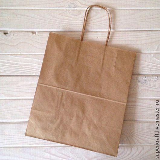 Упаковка ручной работы. Ярмарка Мастеров - ручная работа. Купить Крафт пакет 35х26х15. Handmade. Коричневый, упаковка для подарка