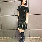 Одежда ручной работы. Ярмарка Мастеров - ручная работа Бархатное платье. Handmade.