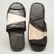 Обувь ручной работы. Ярмарка Мастеров - ручная работа Кожаные тапочки «Мафиози». Handmade.