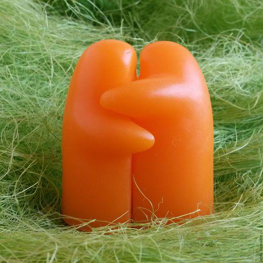 Мыло ручной работы. Ярмарка Мастеров - ручная работа. Купить Оригинальное мыло в подарок Обнимашечки. Handmade. Оранжевый, красивый подарок