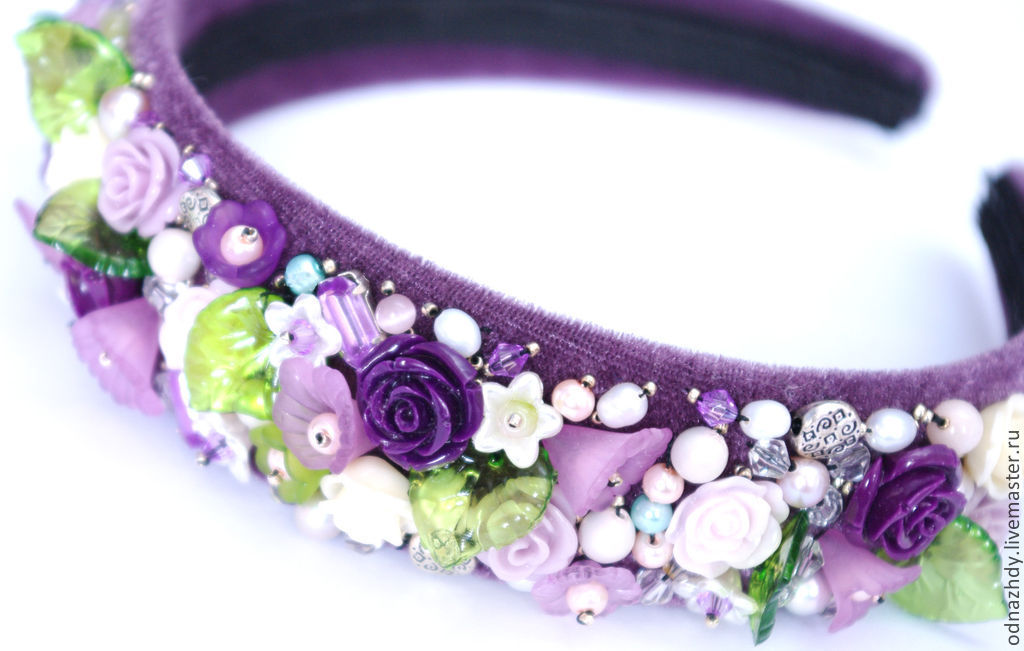 Bezel 'Lavender' in the style of D&G, Headband, Moscow,  Фото №1