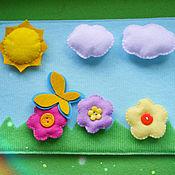 Куклы и игрушки ручной работы. Ярмарка Мастеров - ручная работа Цветочная полянка (на липучках). Handmade.