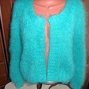 Одежда handmade. Livemaster - original item Delicate turquoise mohair bolero. Handmade.