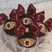 Сувениры и подарки handmade. Livemaster - original item Christmas balls in velvet