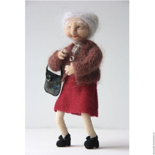 Коллекционные куклы ручной работы. Ярмарка Мастеров - ручная работа. Купить Интерьерная кукла из шерсти. Бабуля № 1.. Handmade.
