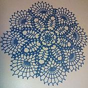 Для дома и интерьера ручной работы. Ярмарка Мастеров - ручная работа Салфетка Иней. Handmade.