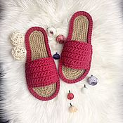 Обувь ручной работы handmade. Livemaster - original item Slippers for home and outdoor use. WOMENS SLIPPERS. Handmade.
