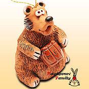 Сувениры и подарки handmade. Livemaster - original item Bear ceramic bell. Handmade.