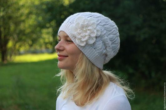 """Вязание ручной работы. Ярмарка Мастеров - ручная работа. Купить Описание по вязанию шапки """"Milky Way"""", МК по вязанию. Handmade."""