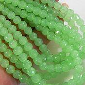 Материалы для творчества handmade. Livemaster - original item Faceted jade 6 mm 10 pieces. Handmade.