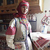 Русский стиль ручной работы. Ярмарка Мастеров - ручная работа Безрукавка с вышивкой. Handmade.