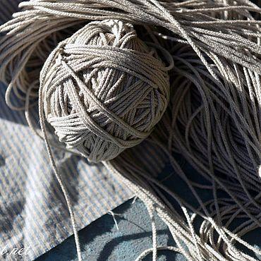 Материалы для творчества ручной работы. Ярмарка Мастеров - ручная работа 6.105L шнур льняной натуральный. Handmade.