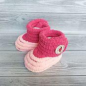 Одежда детская handmade. Livemaster - original item Booties: plush boots for girls, children`s shoes, 10.5 cm on the foot. Handmade.