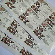 """Материалы для творчества ручной работы. Ярмарка Мастеров - ручная работа Наклейки """"Thank you"""", цветочные.. Handmade."""