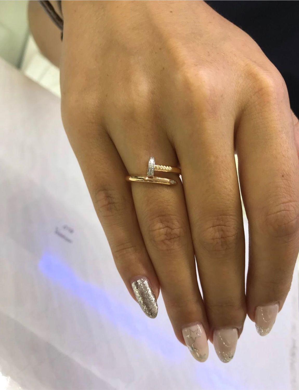 Кольцо гвоздь с бриллиантами, Кольца, Севастополь,  Фото №1