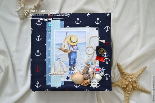 Фотоальбомы ручной работы. Ярмарка Мастеров - ручная работа. Купить Морской альбом. Handmade. Морской стиль, альбом, отдых на море