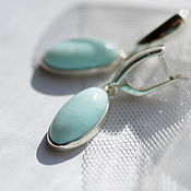 Украшения handmade. Livemaster - original item earrings with blue opal. Handmade.