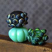 Материалы для творчества ручной работы. Ярмарка Мастеров - ручная работа Бусины лэмпворк мята и авокадо. Handmade.