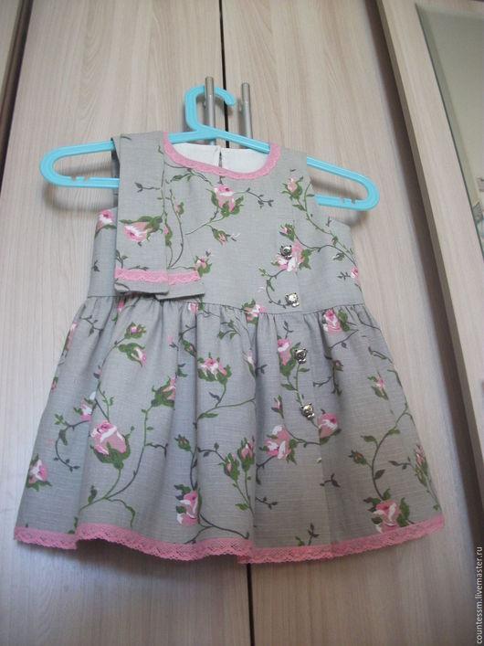 Платье `Розочка`. Удобное, легкое, натуральное.