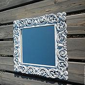 Для дома и интерьера ручной работы. Ярмарка Мастеров - ручная работа Зеркало в деревянной раме, стиль прованс. Z1.. Handmade.