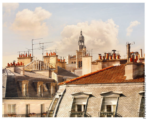 Paris Rooftops photo picture for interior design – Paris City skyline to buy.