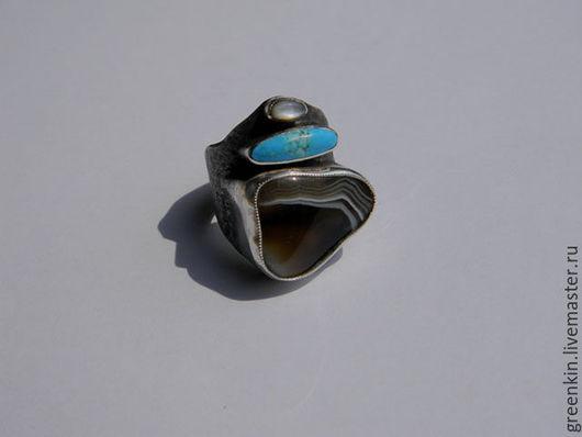 """Кольца ручной работы. Ярмарка Мастеров - ручная работа. Купить кольцо с агатом """" Ини"""". Handmade. Серебряный, подарок, бирюза"""