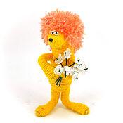 Куклы и игрушки ручной работы. Ярмарка Мастеров - ручная работа игрушка Ежик Трям рыжий (оранжевый,мультфильм,ежонок). Handmade.