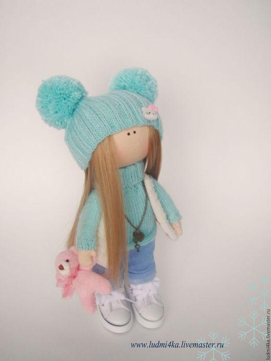 Коллекционные куклы ручной работы. Ярмарка Мастеров - ручная работа. Купить Малышка в джинсах 25см. Handmade. Кукла, кукла в подарок