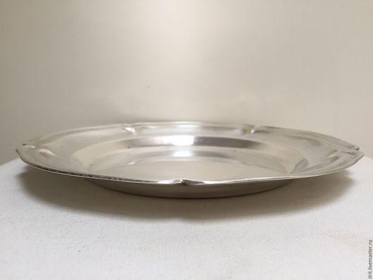 Винтажная посуда. Ярмарка Мастеров - ручная работа. Купить Небольшое посеребренное блюдо. Handmade. Серебряный, винтажное блюдо