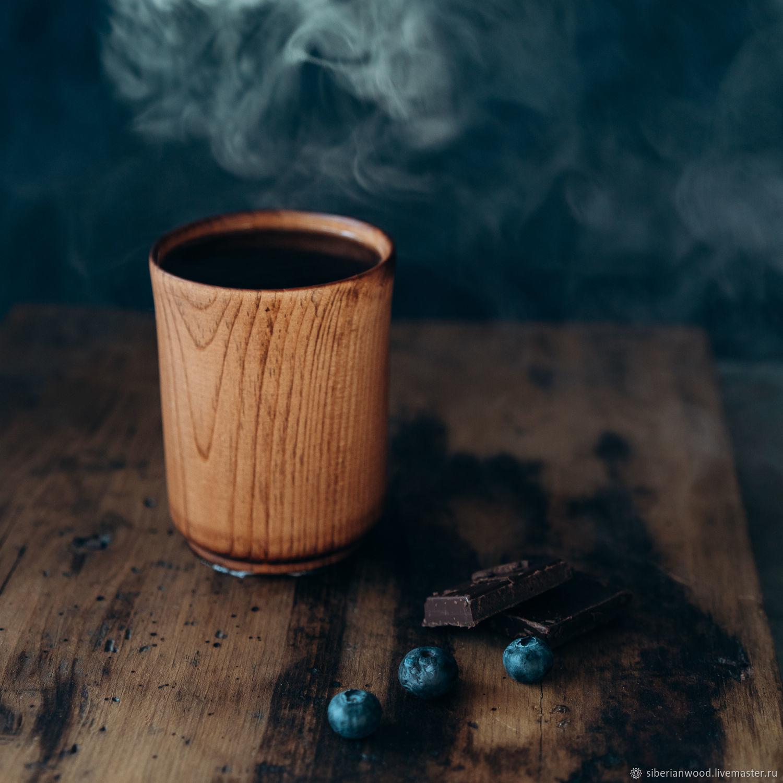Drink glass made of natural wood Siberian cedar C43, Water Glasses, Novokuznetsk,  Фото №1