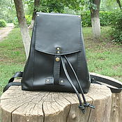 Сумки и аксессуары handmade. Livemaster - original item Backpack leather black 2. Handmade.