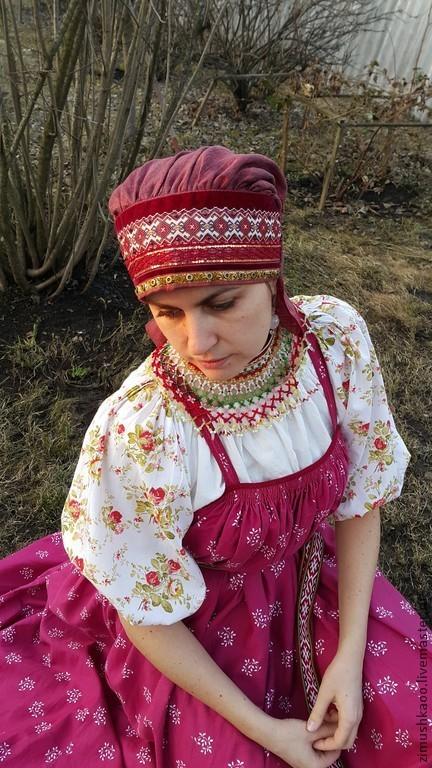 """Одежда ручной работы. Ярмарка Мастеров - ручная работа. Купить """"Сорока"""". Handmade. Народный костюм, славяне, головной убор для женщин"""